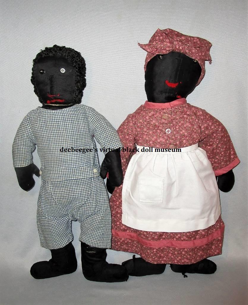 1870s black cloth dolls